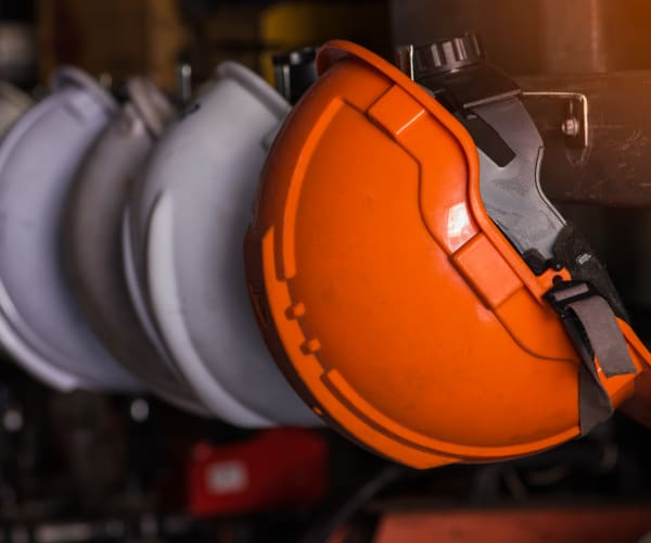 Hardhats at a build site for Integrated Real Estate Group in Southlake, Texas