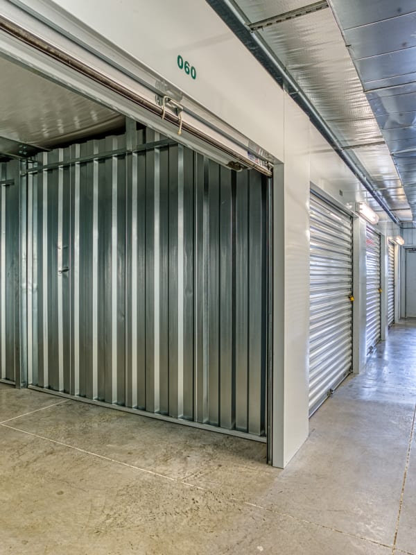 Inside of a climate-controlled unit in Spring, Texas at Devon Self Storage