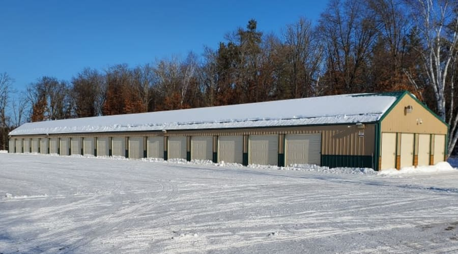 Exterior of outdoor units at KO Storage of Pillager in Pillager, Minnesota
