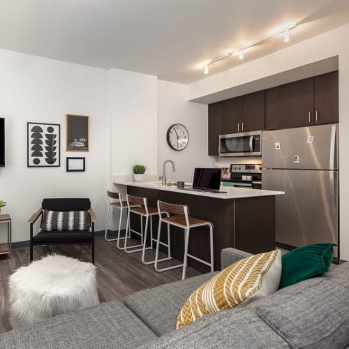 Spacious living room at IDENTITY Moscow in Moscow, Idaho