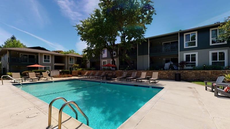View a virtual tour of our pool area at Pleasanton Glen Apartment Homes in Pleasanton, California
