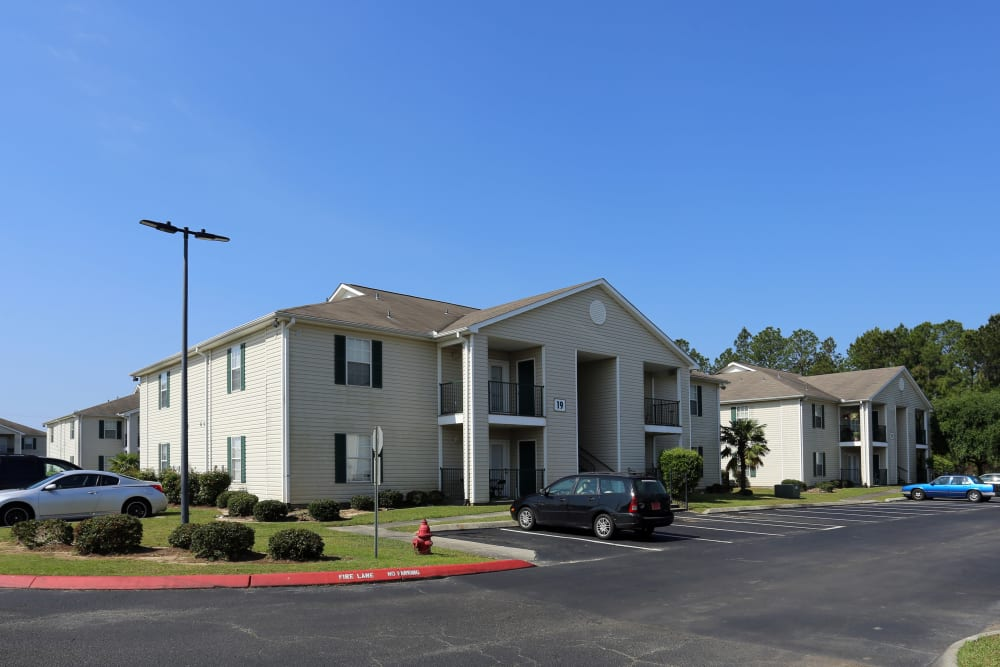 Exterior of the apartment buildings at Ashton Park Apartments in Gulfport, Mississippi