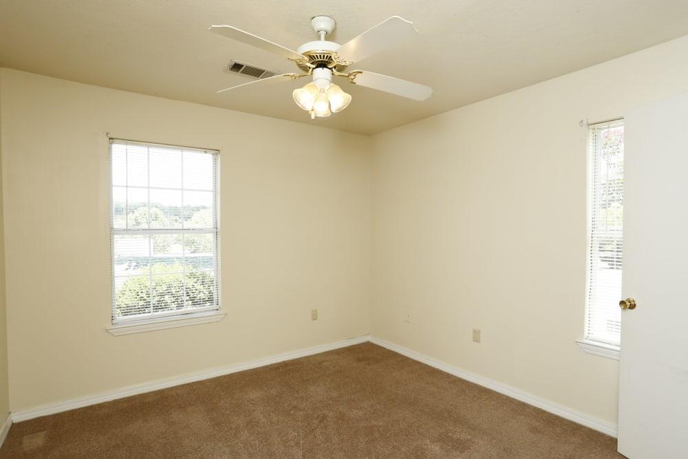 Bright bedroom at Summer Park Apartments in Jackson, Mississippi