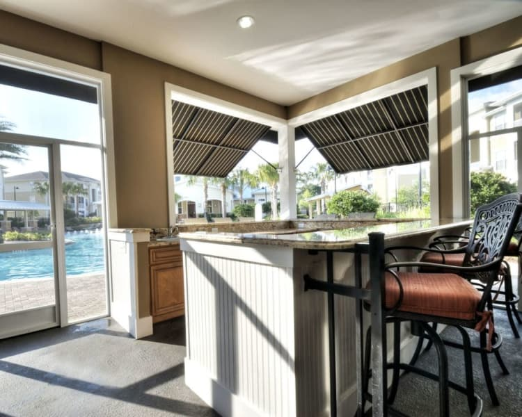 Outdoor kitchen at Luxe at 1820 in Tampa, Florida