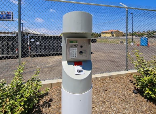 Secure keypad entry to A-1 Self Storage in San Diego, California
