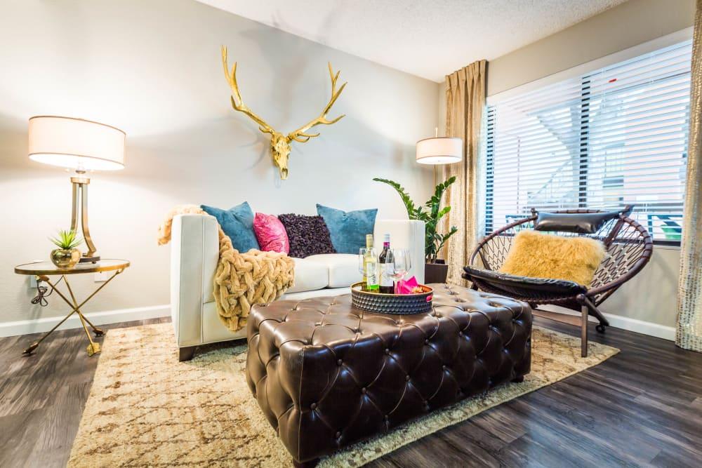 Living room area with stylish decorations at 4127 Arcadia in Phoenix, Arizona