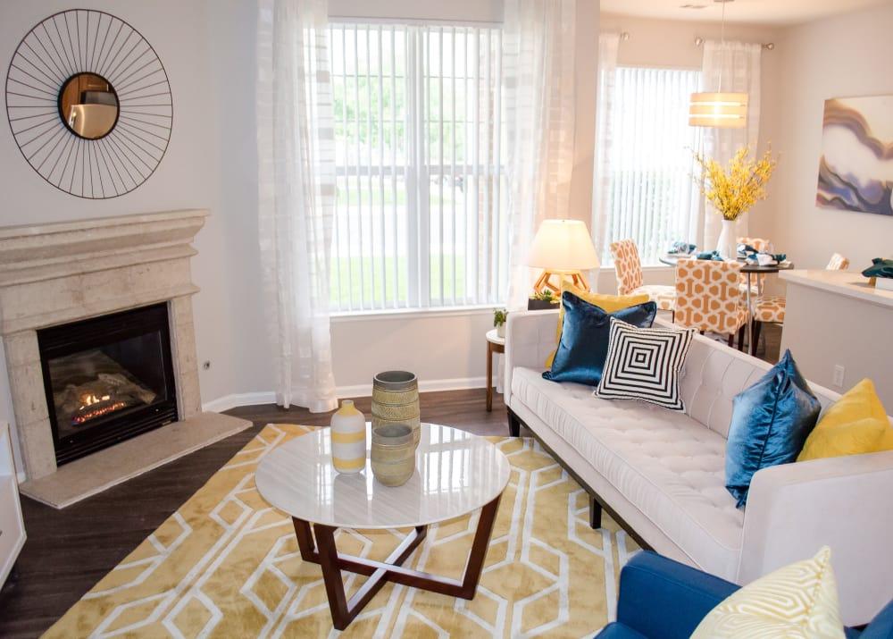 Living room at Bear Valley Park in Denver, Colorado