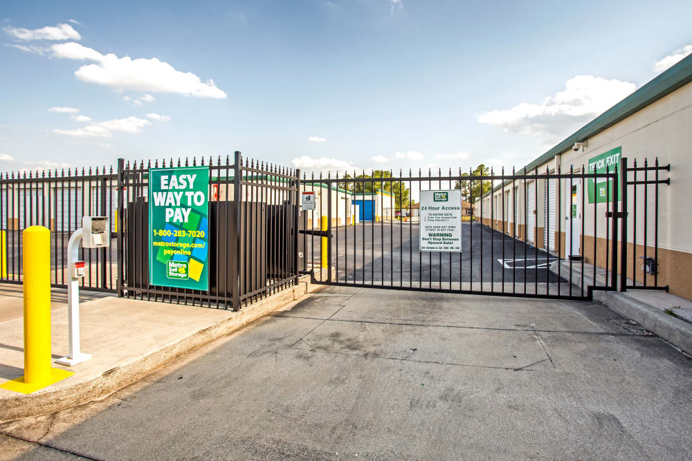 Metro Self Storage offers an access gate with security panel in Lehigh Acres, Florida
