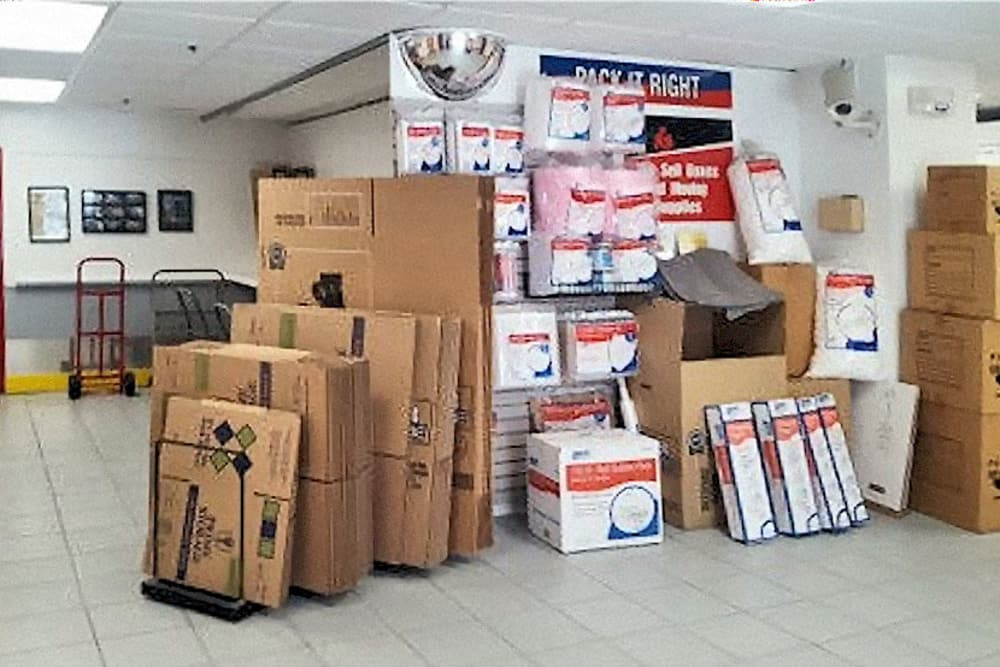 Packing supplies available for purchase at Prime Storage in Boston, Massachusetts