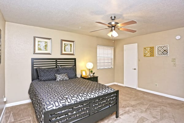 Bedroom at Promontory Point Apartments in Austin, Texas