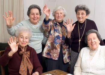 Residents enjoying time together at Absaroka Senior Living in Cody, Wyoming