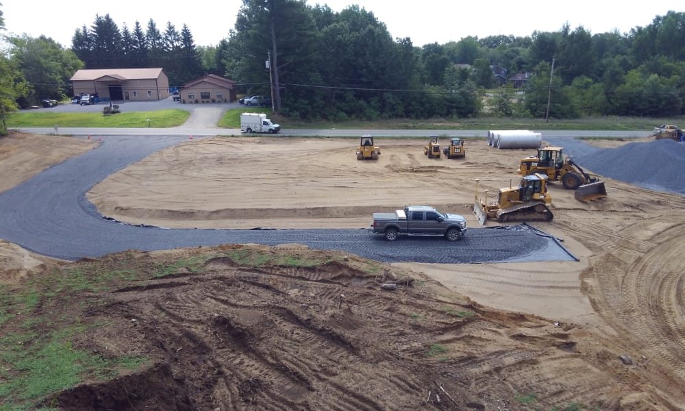 Beautiful streets under construction at Enclave 50 in Ballston Spa, New York