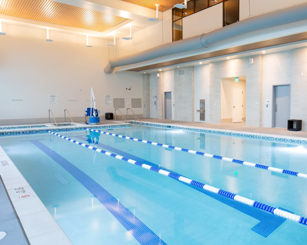 The fitness club pool at Touchmark at All Saints in Sioux Falls, South Dakota