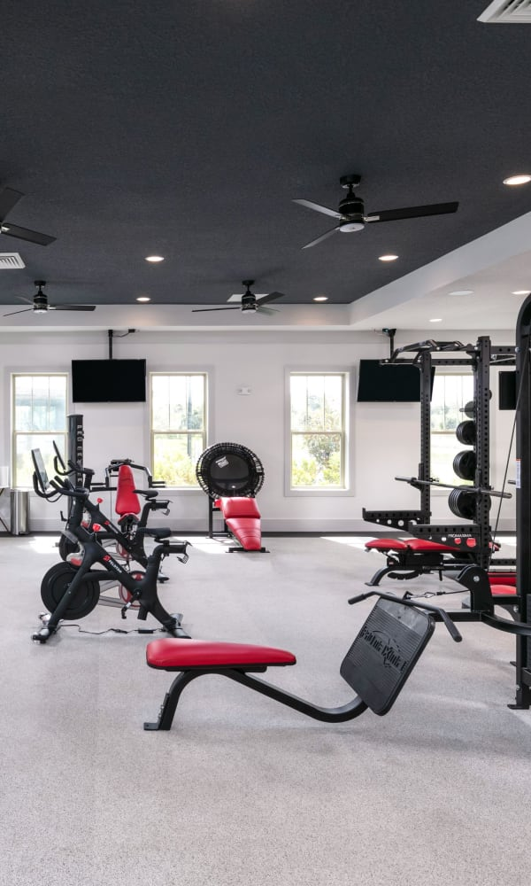 Full sized state of the art fitness center at Integra 289 Exchange in DeBary, Florida