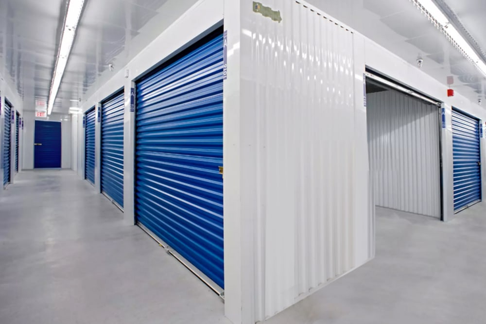 Indoor climate-controlled storage at Vault Self Storage in Holland Landing, Ontario