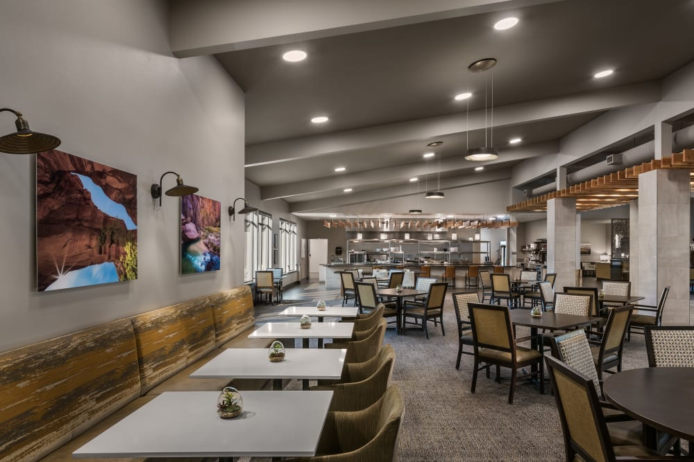 Dining hall at Carnegie Heights at Henderson in Henderson, Nevada
