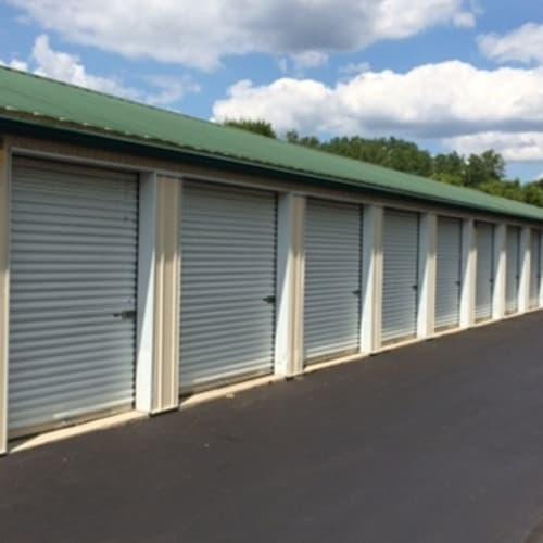 Exterior storage units at Wilson Road Storage in Columbus, Ohio