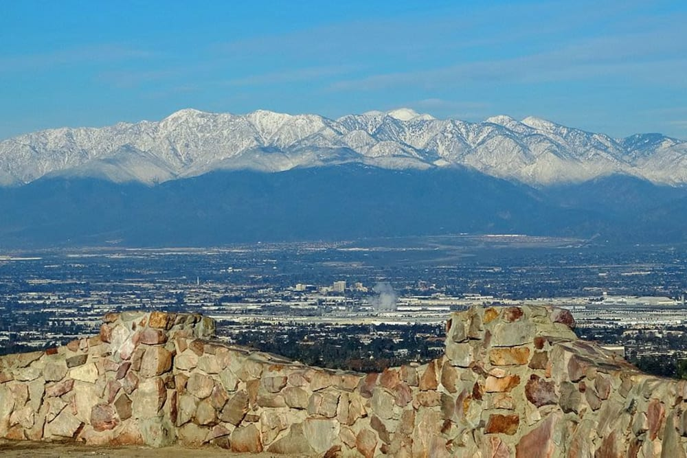 Mountain views near Merrill Gardens at West Covina in West Covina, California