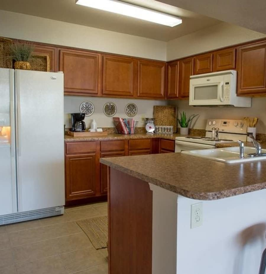 Kitchen at Villas At Preston Lakes in Owasso, Oklahoma