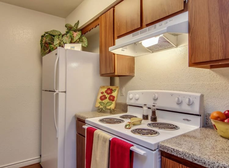 Energy-efficient appliances at Cambridge Place in Houston, Texas