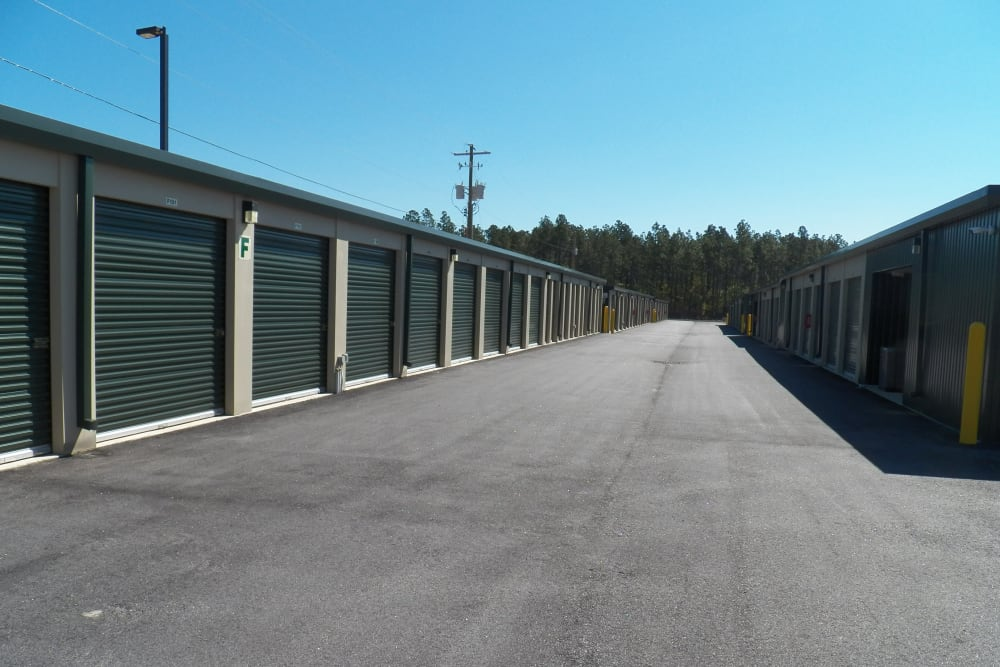 Outdoor area at Breezy Hill Self Storage in Graniteville, South Carolina