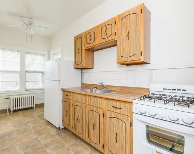 Kitchen at Colby, Carlton, and Colby Park Apartments in Rochester, New York