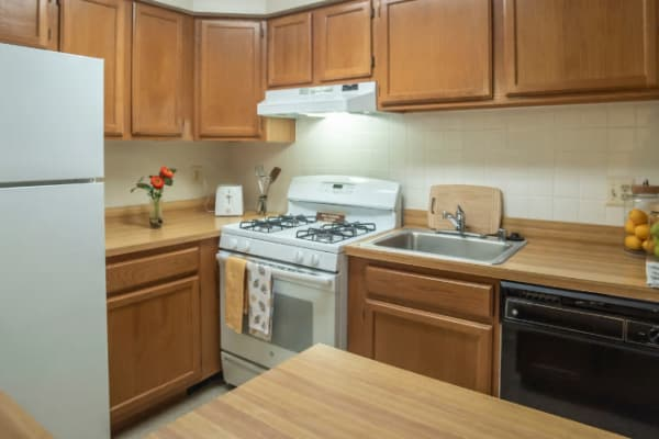 Kitchen at Hunt Club Apartments in Cockeysville, Maryland