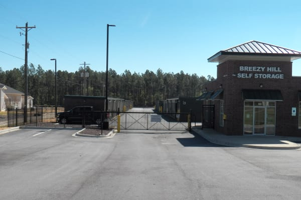 Leasing office exterior at Breezy Hill Self Storage in Graniteville, South Carolina