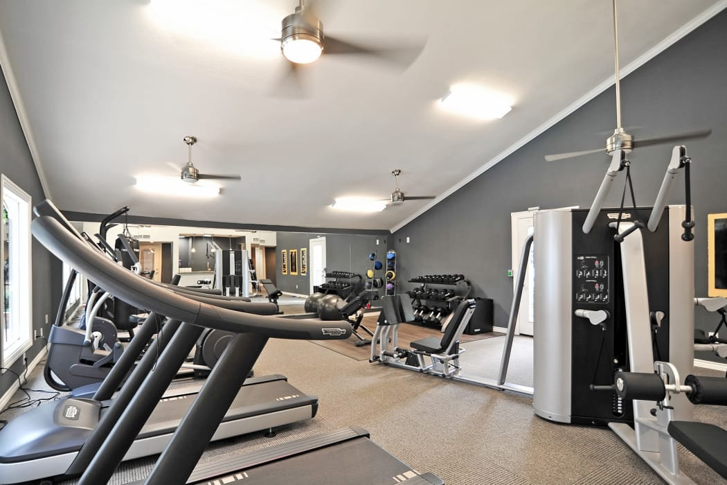 Bayou Parc at Oak Forest offers a modern fitness center in Houston, Texas
