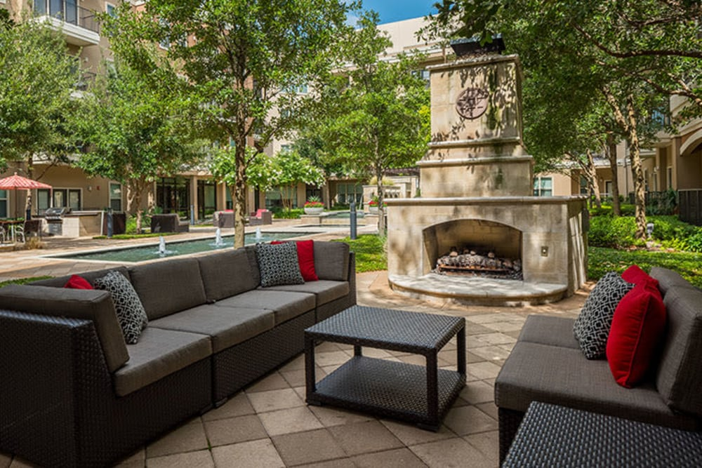 Enjoy the outdoor lounge at Addison Keller Springs in Addison, TX