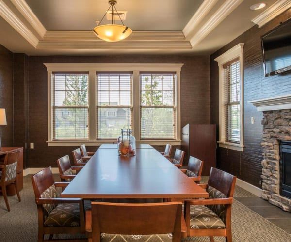 Clubhouse's banquet room at Preserve at Autumn Ridge in Watertown, New York