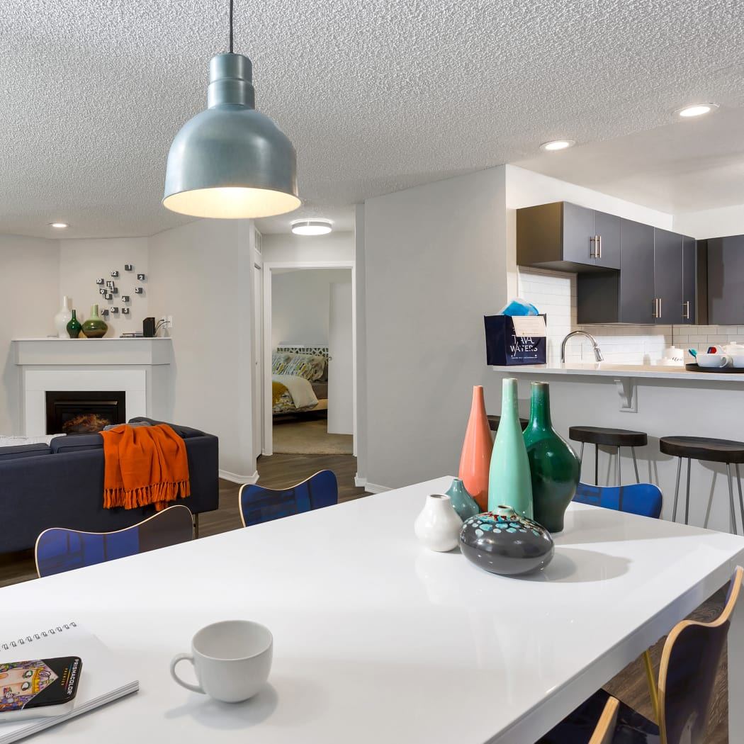 Spacious model apartment at TAVA Waters in Denver, Colorado