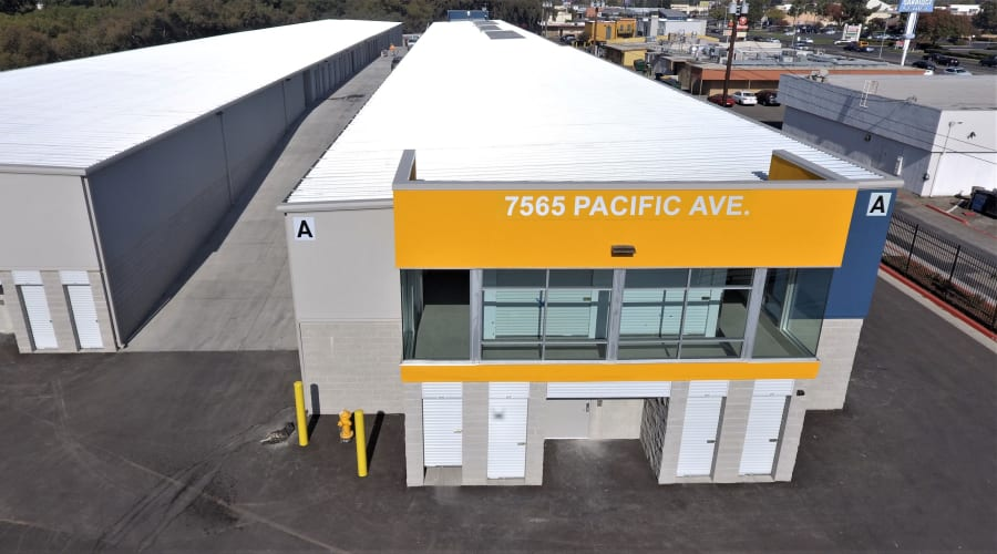Drive-up unit access at First Rate Storage in Stockton, California