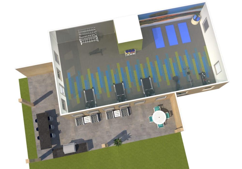 The Agave amenities layout, Tucson, Arizona
