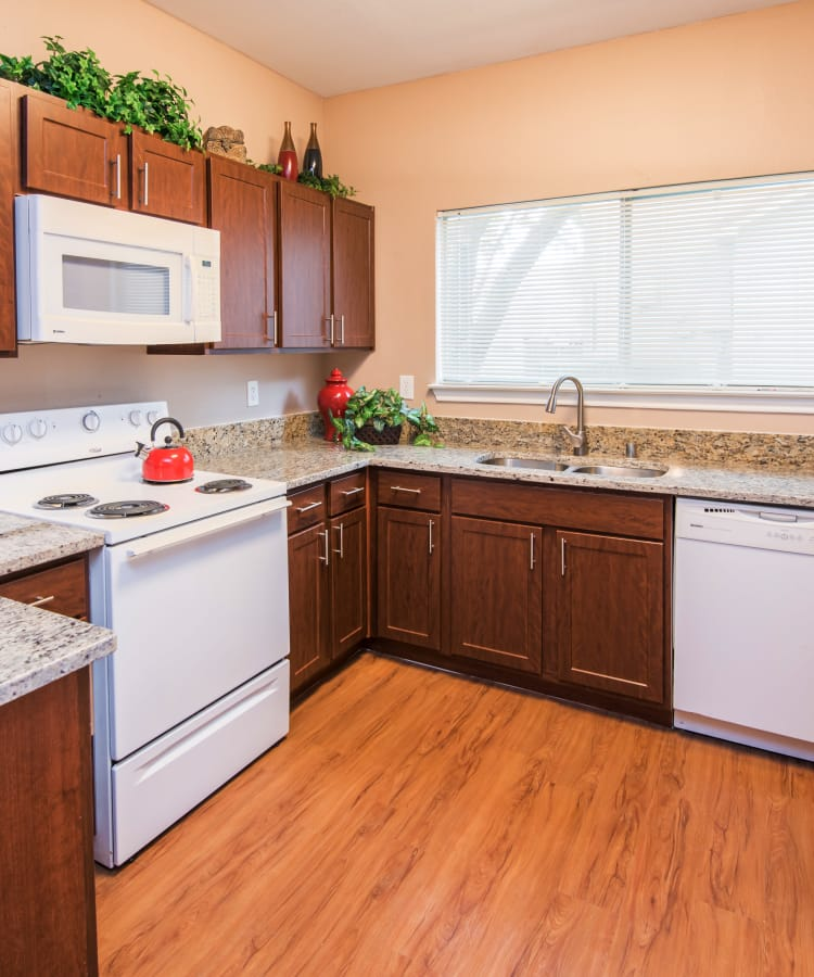 Kitchen at Villas of Preston Creek in Plano, Texas