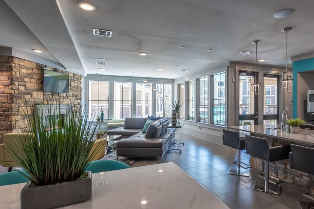 Modern resident clubhouse at Heights West 11th in Houston, Texas