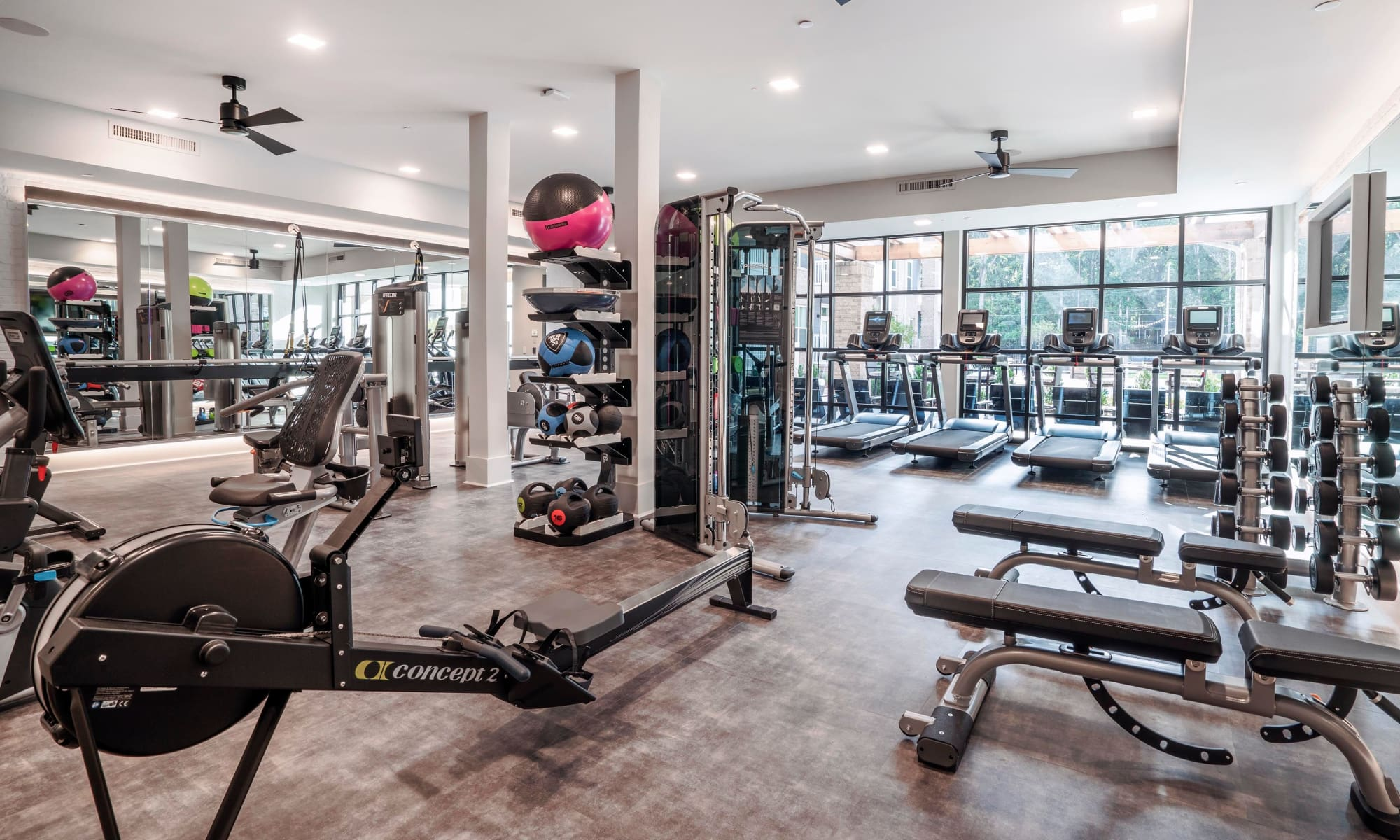 Beautiful fitness center at Alta Blu in Chapel Hill, North Carolina