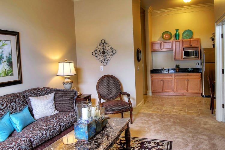 Living space at Tranquility Estates in Grand Blanc, Michigan