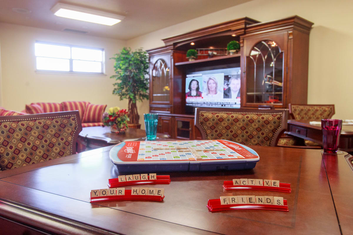 Scrabble at Stoneybrook Assisted Living in Corvallis, Oregon