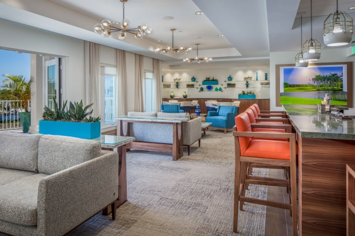 All Seasons Naples club dining room in Naples, Florida