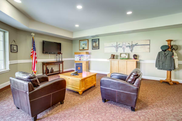 Living room at Cottonwood Court in Fresno, California