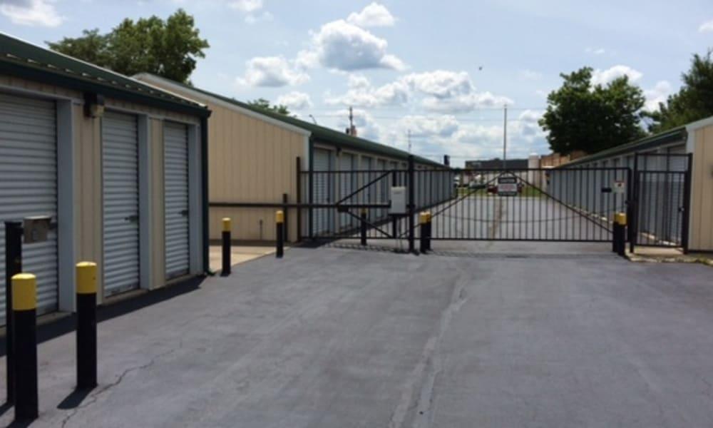 The gate at Wilson Road Storage in Columbus, Ohio