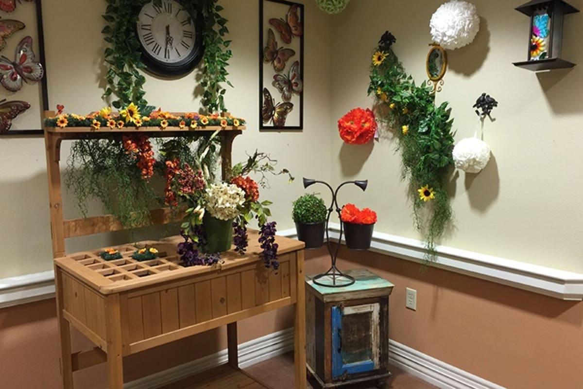 Nostalgia areas at New Dawn Memory Care in Colorado Springs, Colorado