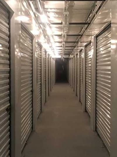Clean and illuminated units at Towne Storage in Las Vegas, NV