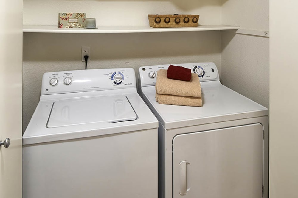 Washer and dryer at Olin Fields Apartments