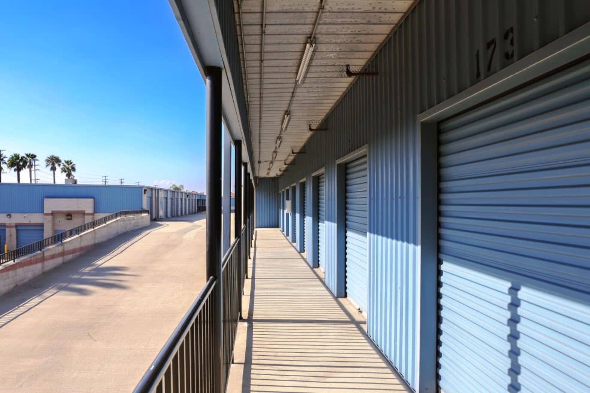 Secure storage units at A-1 Self Storage in Anaheim, California