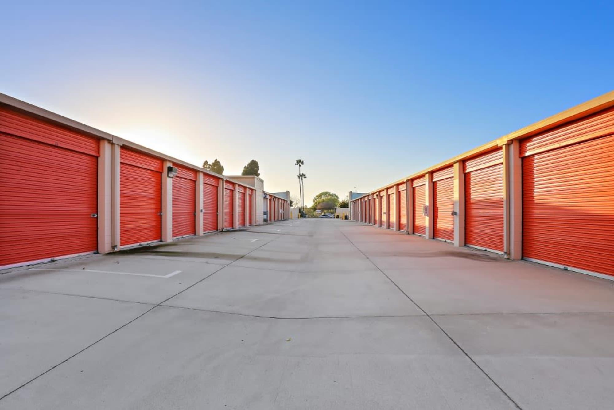Convenient drive-up storage at A-1 Self Storage in Huntington Beach, California