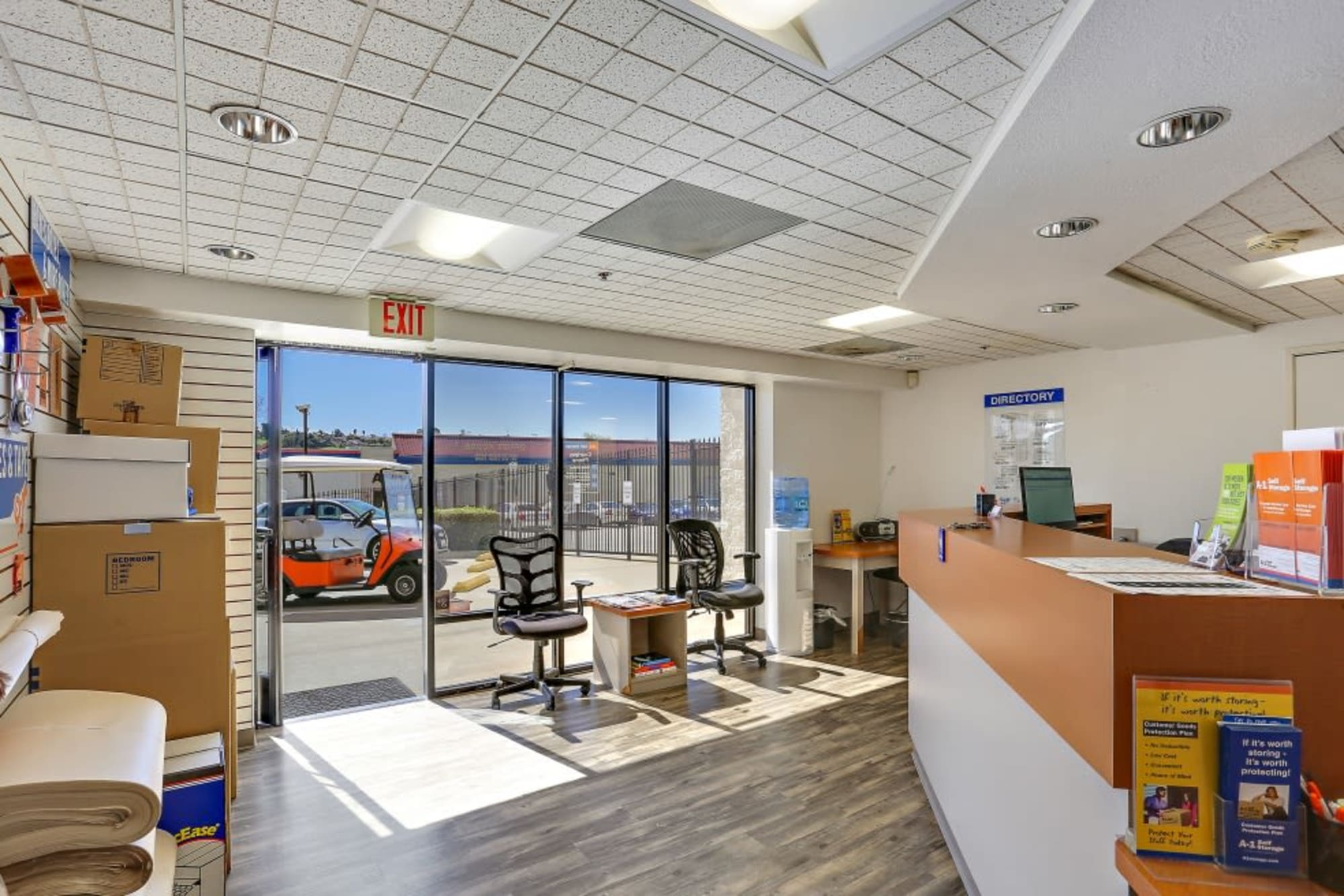 The office at A-1 Self Storage in Oceanside, California