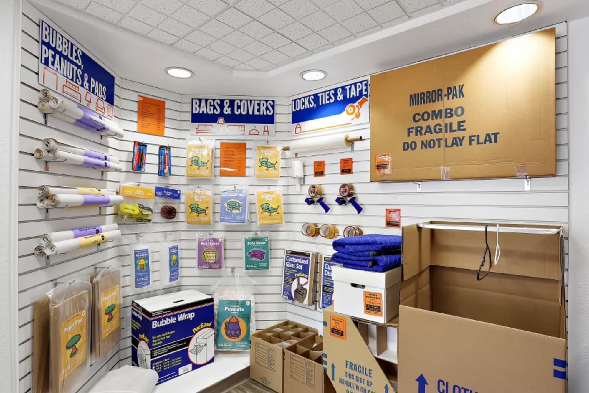 Full Line of Moving Supplies in A-1 Self Storage in San Diego, CA