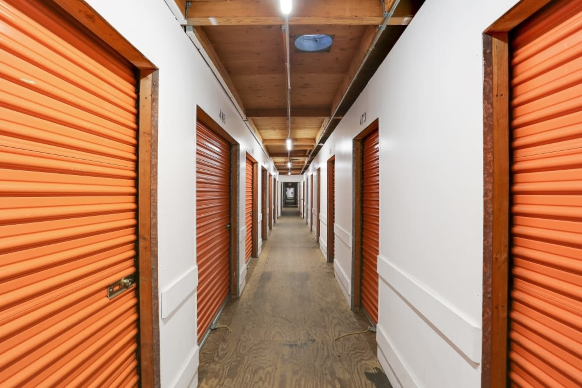 Clean Hallways for Interior Storage Units in A-1 Self Storage in San Diego, CA